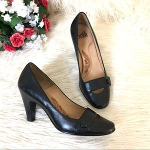 Sofft Leather Mary Jane Pump Heels | Size: 7